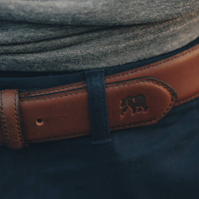 Classic Stitched Leather Belt