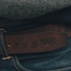 Etched Leather Belt - Brown