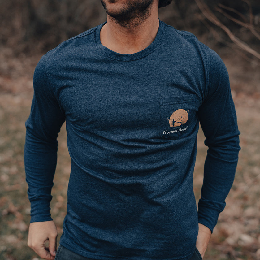 Fly Fishing T-Shirt - Navy