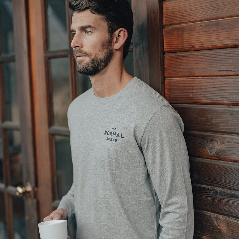 Landscape Long Sleeve T-Shirt - Grey