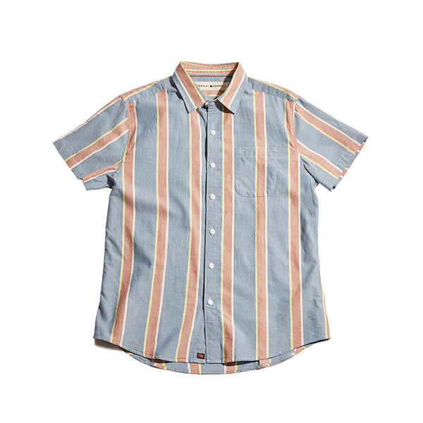 Oakland Twill Short Sleeve Button Up Shirt - River