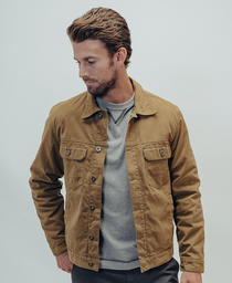 Waxed Canvas Jacket: Khaki