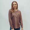 Long Sleeve Shirttail Pocket Tee