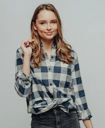 Boyfriend Conrad Shirt: Conrad Navy Plaid