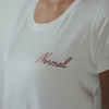 Chest Script Round Hem T-Shirt