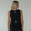 Fine Print Cross Back Tank