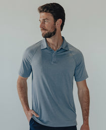 Performance Polo: Mineral Blue