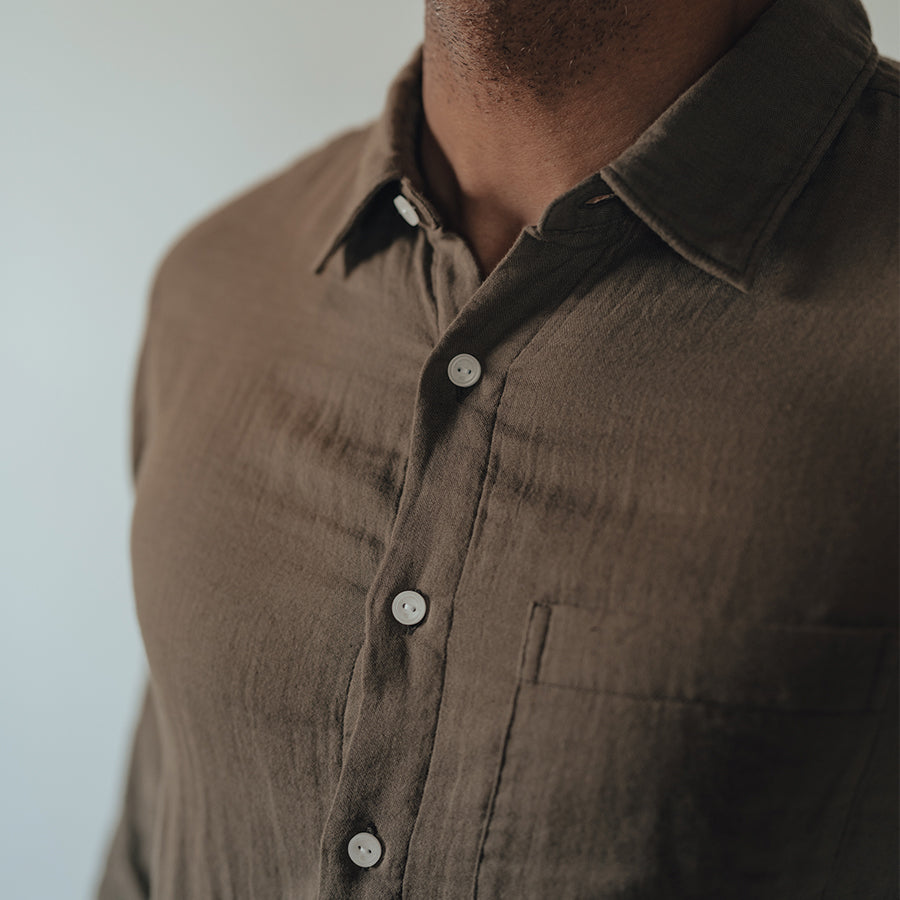 Gauze Button Up Shirt