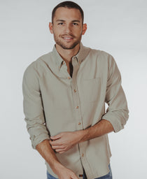 Midcoast Button Down Shirt: Sage Midcoast