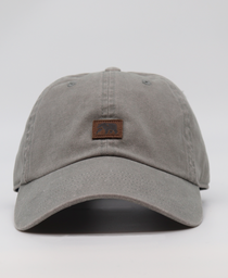Leather Square Cap: Grey