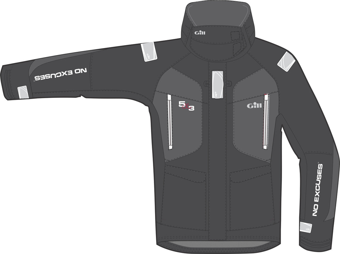 5X3 GIll OS2 Rainsuit Jackets - Black (preorder)