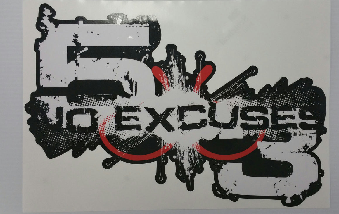 "Large 5X3 Logo decal (15""X10"")"
