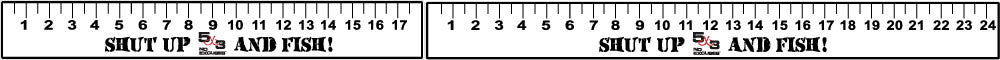 "18"" and 24"" 5X3 Carpet Graphic Ruler"