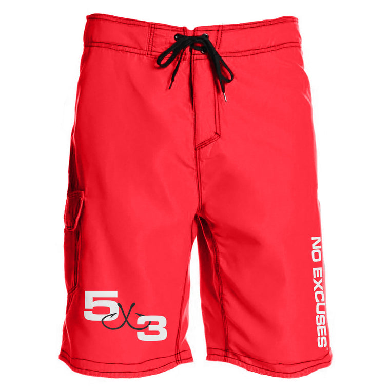 5X3 Red Board Shorts