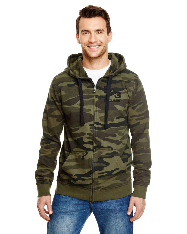 5X3 CAMO ZIPPERED HOODIE (SHIPS FIRST WEEK OF DECEMBER)