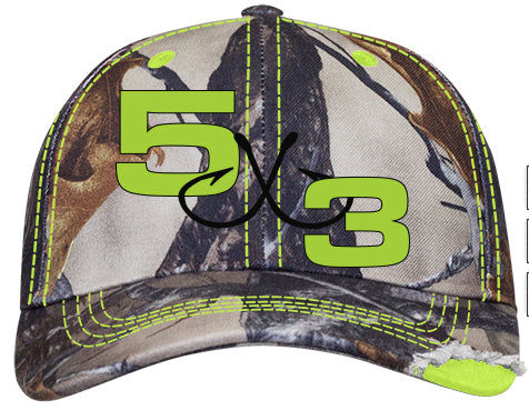 Camo Hunting Hats (green and orange available)