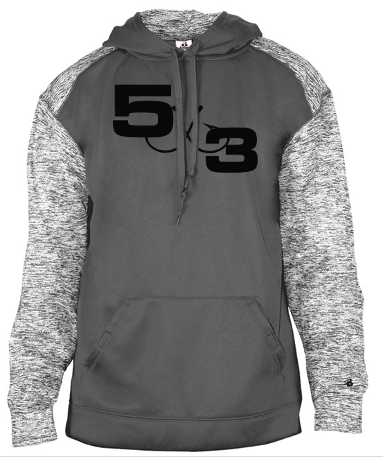 Gray With Heather Gray Sleeve Hoodie (preorder)