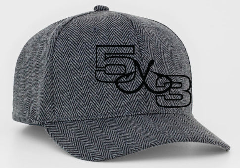HERRINGBONE FITTED  LIMITED EDITION HATS
