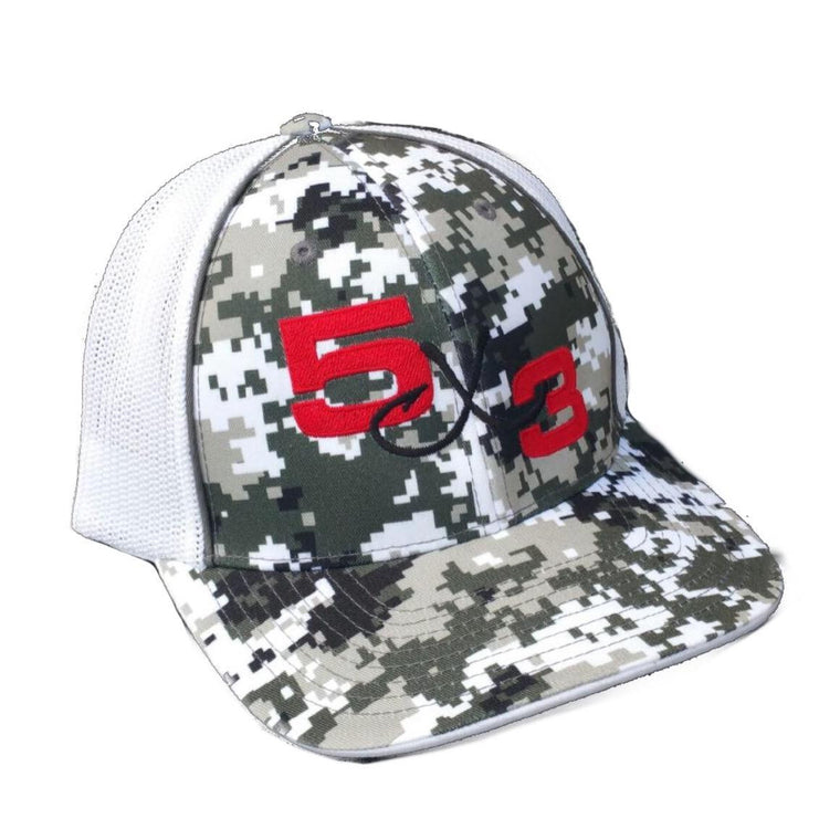 5X3 Digital Camo Fitted Mesh Back Hat