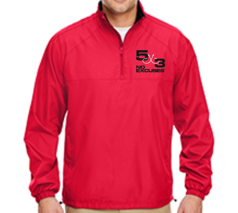 5X3 Embroidered Micro-Poly Wind shirt (PRE-ORDER) Available in red and black