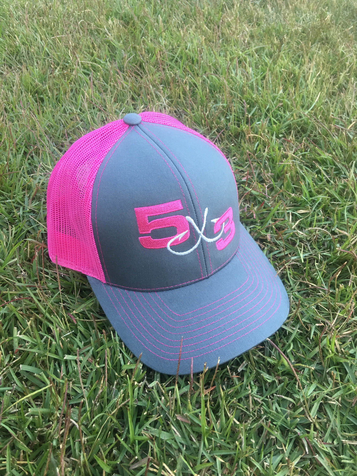 Graphite and Pink Snapback Hat