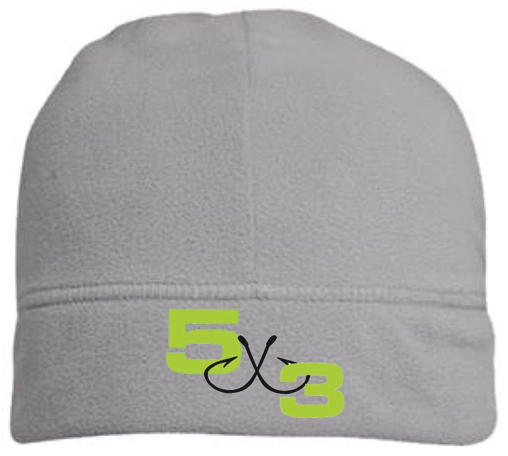 5X3 Gray Neon Fleece Beanie