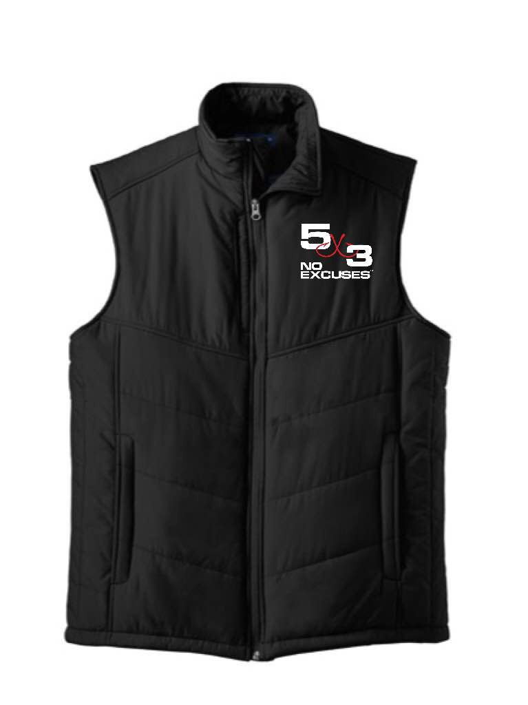 5X3 Embroidered Puffy Vest PRE-ORDER