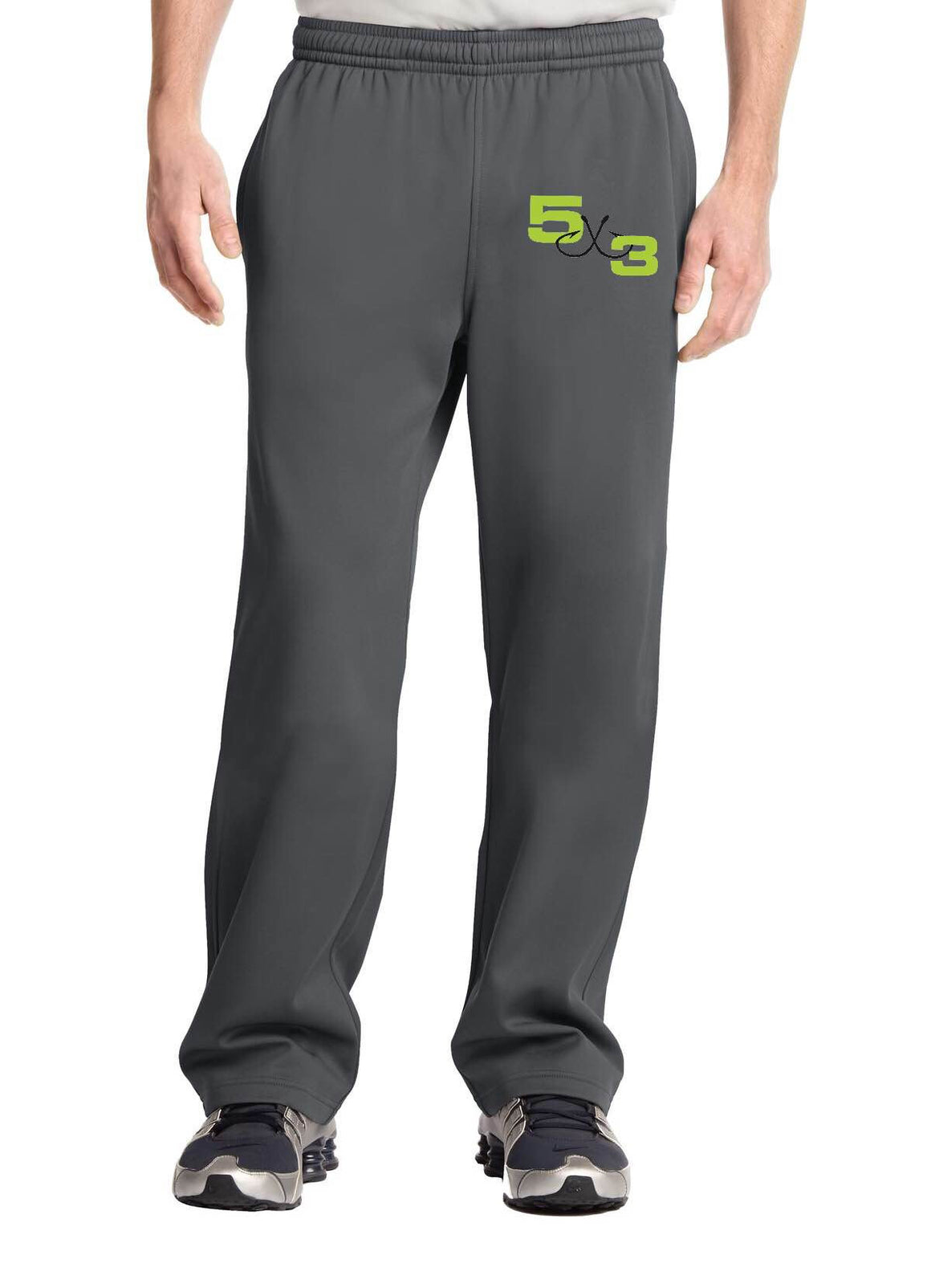 Moisture wicking jogging pant (Gray With Neon Logo)PRE-ORDER