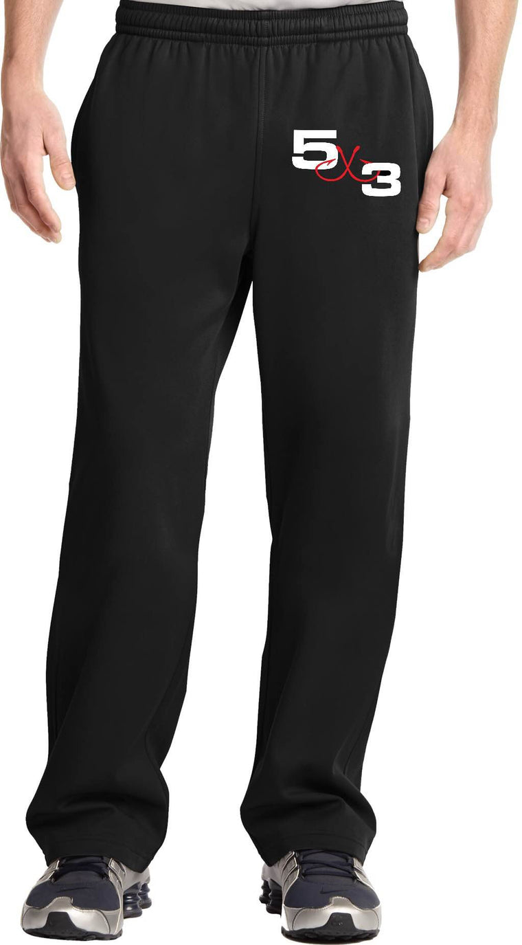 Moisture wicking Jogging Pants (Black With White Logo) PRE-ORDER