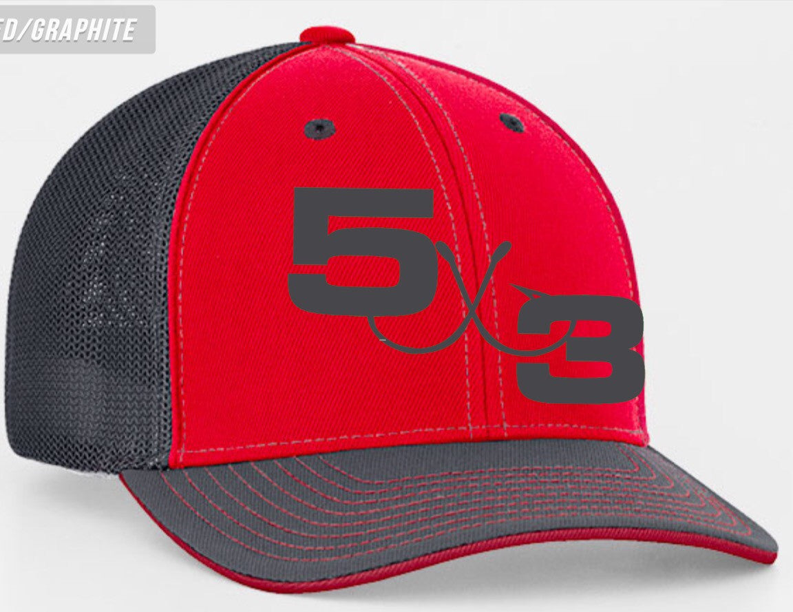Red and Graphite Combo Hat