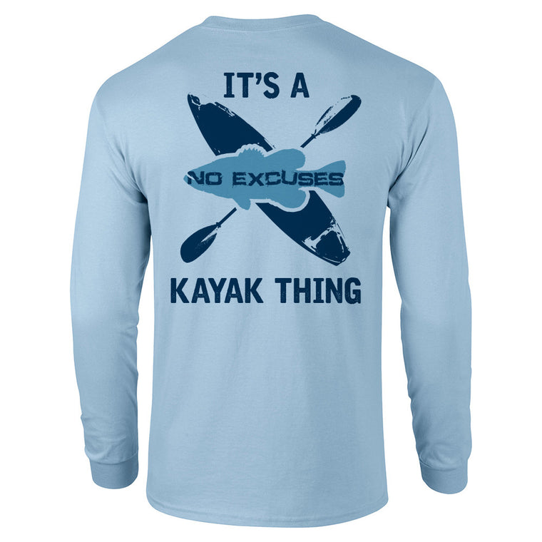5X3 Light Blue Kayak Long Sleeve Shirt