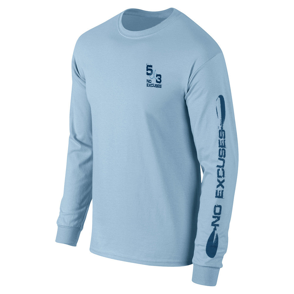 Light Blue Kayak Long Sleeve T-Shirt