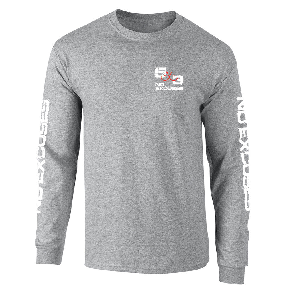 5X3 Gray Topwater Cotton Blended Long Sleeve Shirt