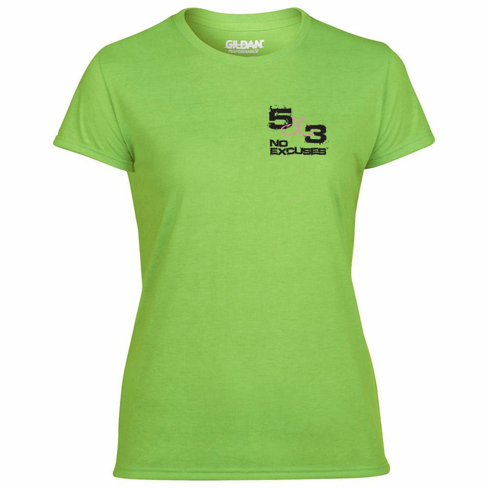 5x3 Women's Neon Retro T-Shirt