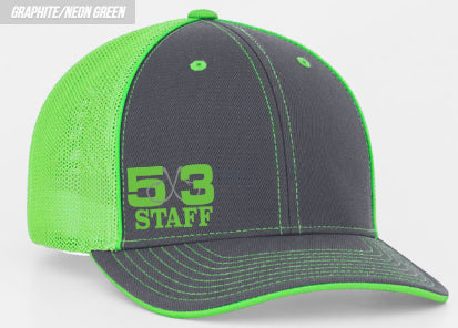 5X3 Neon Staff Fitted Hat (preorder)