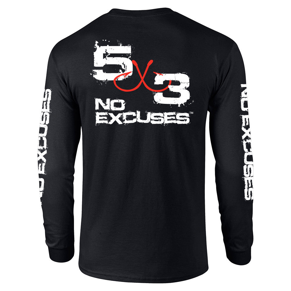 Retro Long Sleeve T-shirt - Black