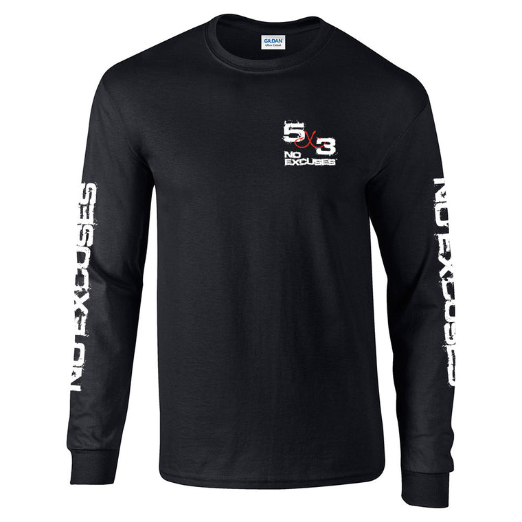 5X3 Retro Long Sleeve T-shirt - Black