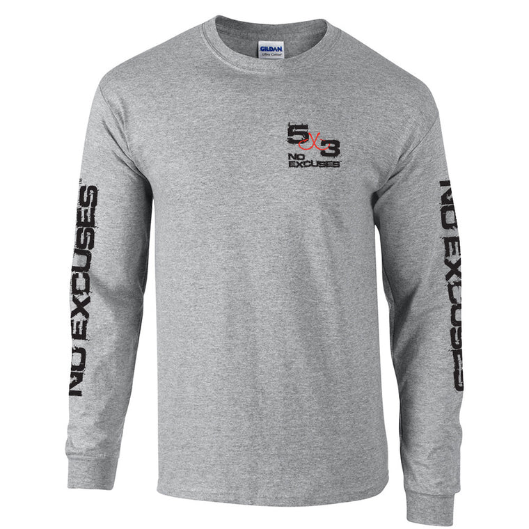 5X3 Retro Long Sleeve T-shirt - Grey