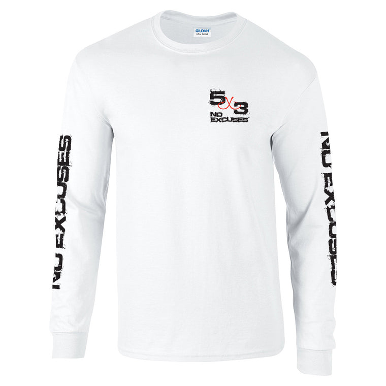 5X3 Retro Long Sleeve T-shirt - White