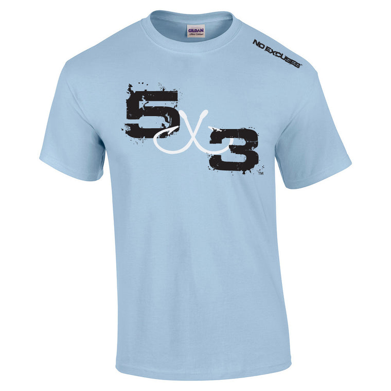 5X3 (sky blue) Moisture wicking short sleeve sunshirt
