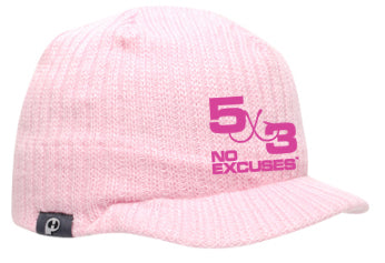 5X3 Fleece Beanie With A Bill