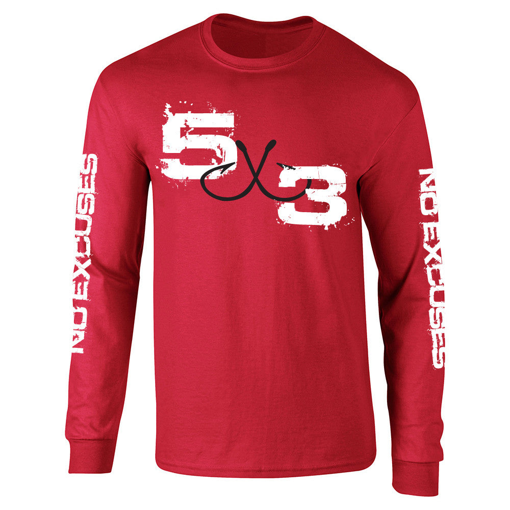 Red Long Sleeve Sun Shirt