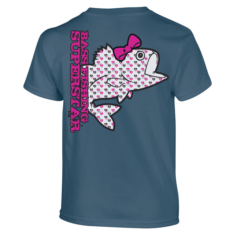 5X3 Girls Youth Bass Fishing Superstar Shirt