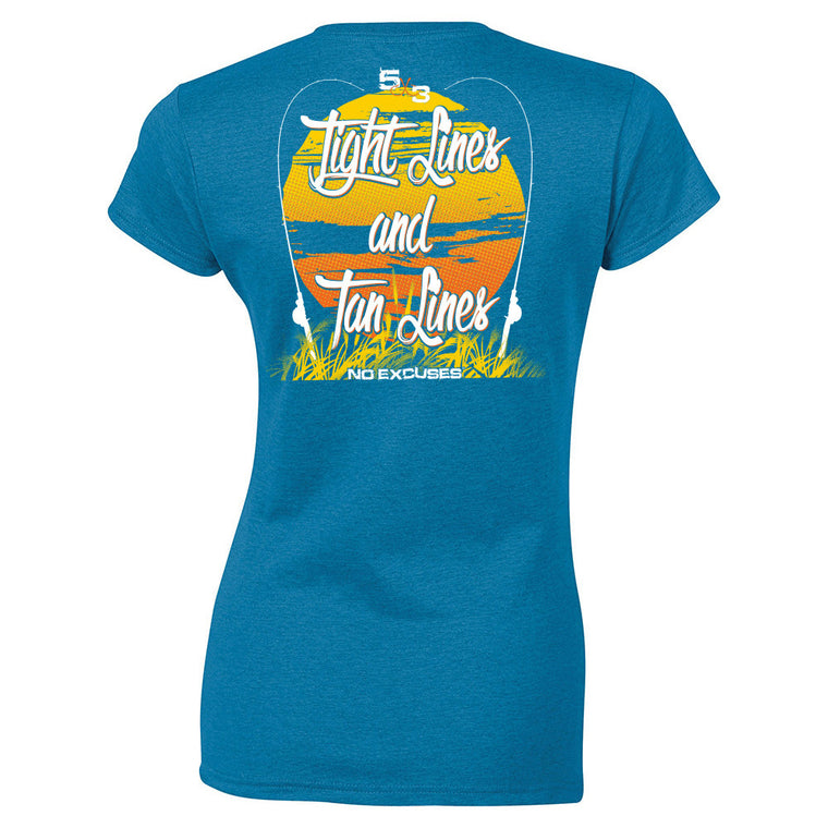 "Women's SLIM FIT ""Tight Lines and Tan Lines"" Tee"
