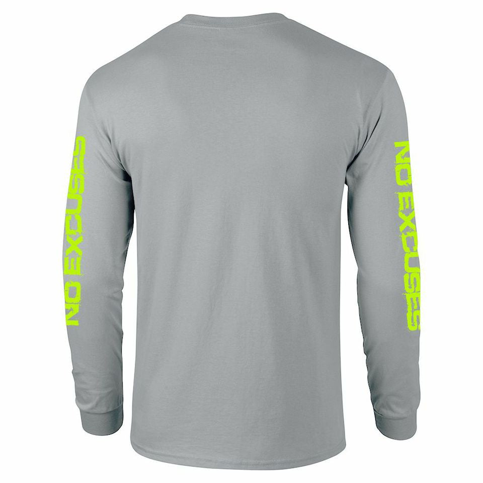 5X3 Gray and Neon Green Long Sleeve Sunshirt (spf50 built in)
