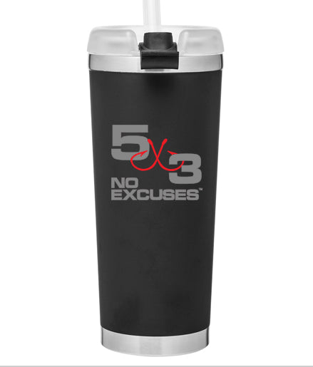 24oz. Black Matte and Gray stainless insulated cup.