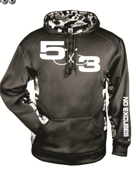 Black and White Urban Camo Moisture Wicking Hoodie (preorder)