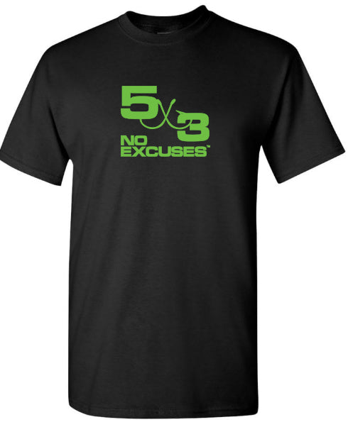 5X3 Limited Edition Black and Neon short sleeve shirt.