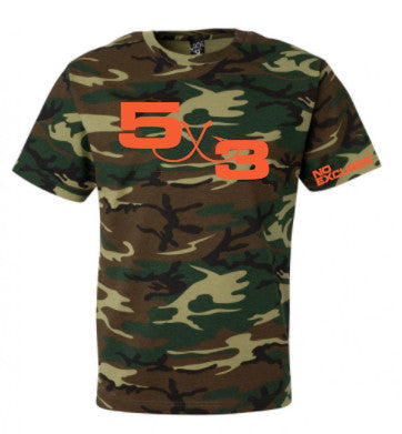 Retro Camo and Orange T-Shirt