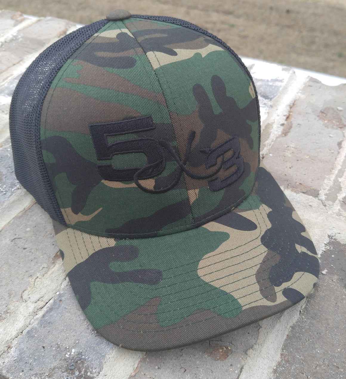 5X3 Old School Camo SnapBack Adjustable Hat